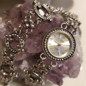 Silver Watch and Bracelet Set